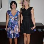 Alicia ~ DVF dress, Pour la Victoire heels, Aldo clutch. Lindz ~ Marciano dress, Brian Atwood heels, Coach clutch.