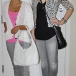 Alicia - H&M top and cardigan, paige denim, tory burch flats. Lindz - Mexx cardigan, A/X tank, Citizen Denim, Dolce Vita sandals.