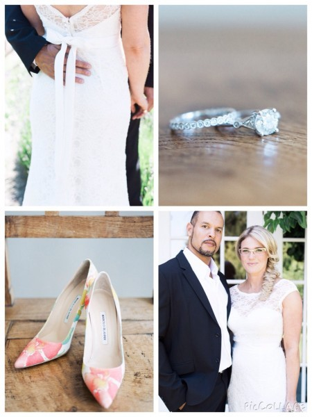 Shoes: Manolo Blahnikhq Wedding Band: Minichiello Engagement Ring: Vintage