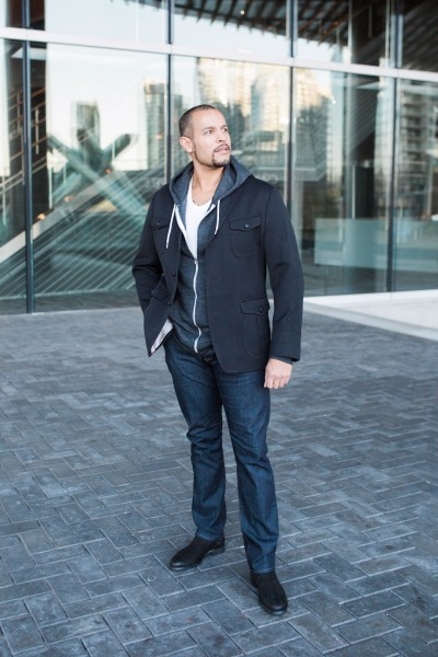 Blazer: Banana Republic Hoodie: American Apparel Denim: Armani Exchange Boots: Zara